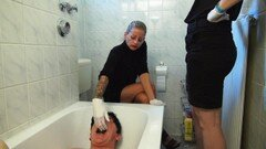 Scatqueens-berlin.com update: Toilet SLave Filled Up with Shit Part2